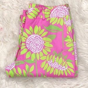 Lilly Pulitzer Pink Soleil Floral Capri Pa…